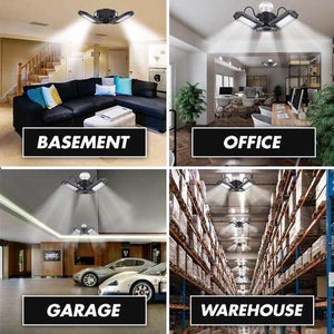 Bright LED Garage Light for Garage Warehouse Workshop Basement - Tazooly