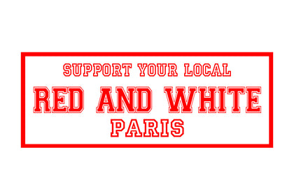 Sticker Red and White Paris