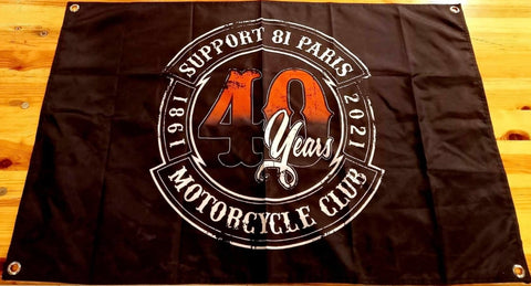 Drapeau SUPPORT 81 PARIS 40th Anniversary