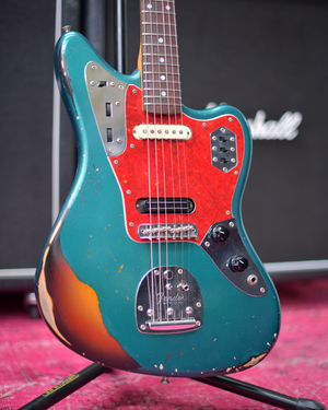 Fender Japan Jaguar Sherwood Green Heavy Relic 1997 Fujigen