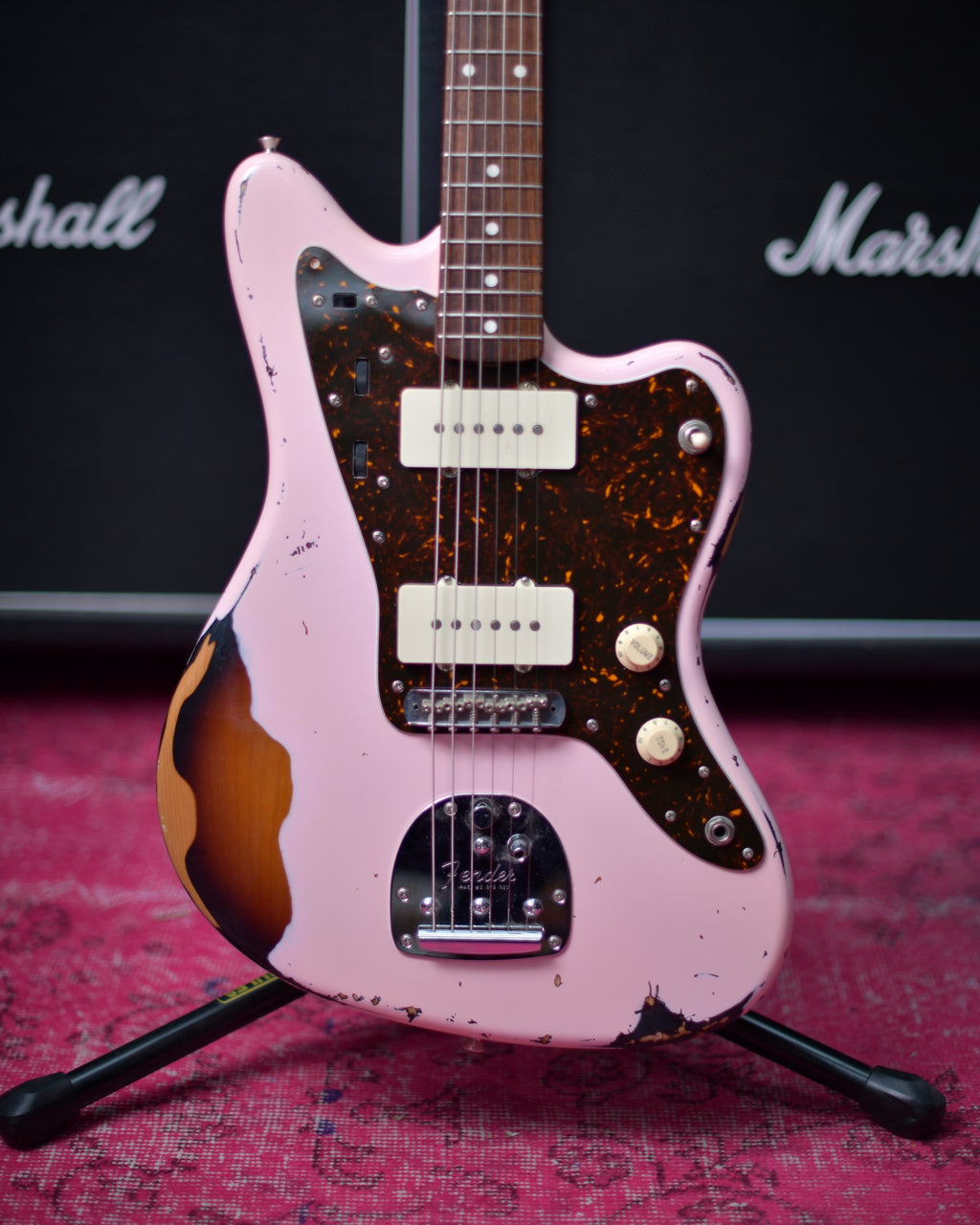 Fender Japan Jazzmaster Heavy Relic Shell Pink over 3TSB MIJ 2015