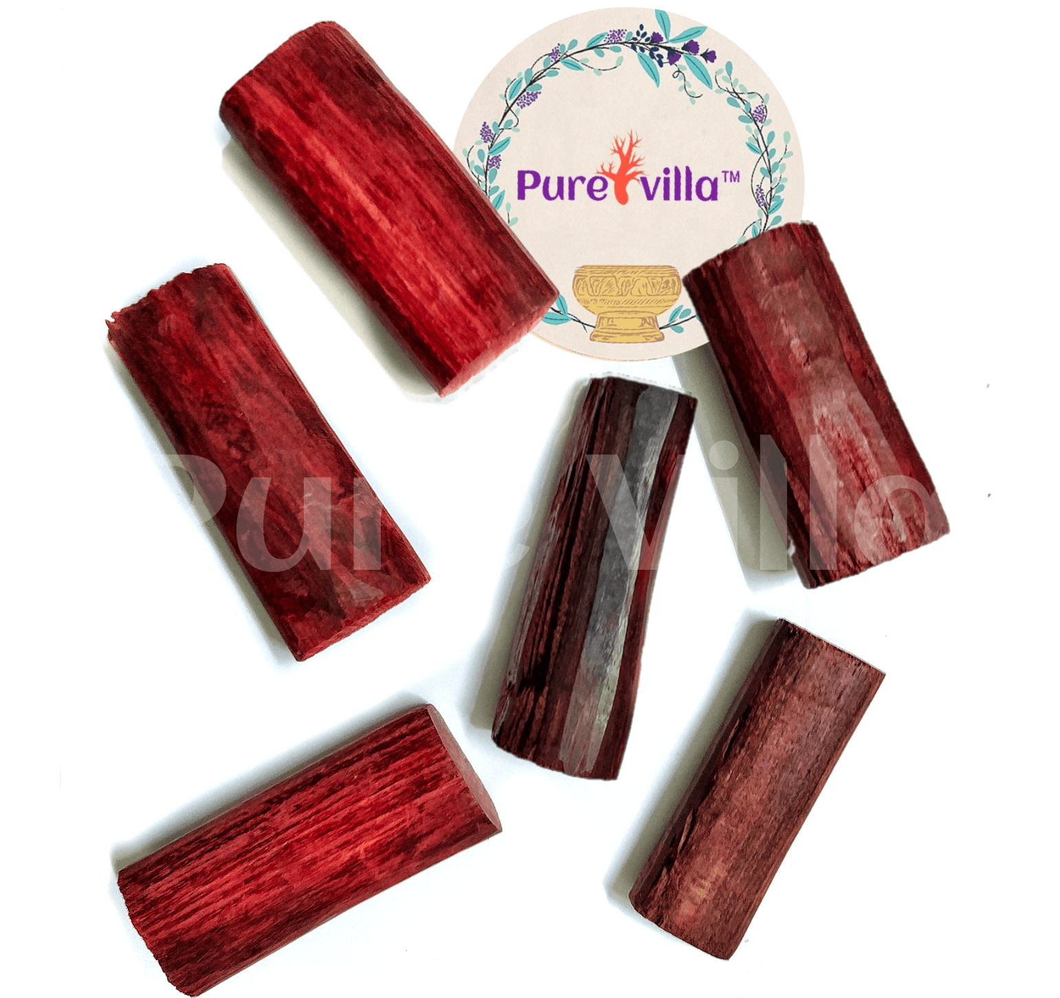 Red Sandalwood Sticks, Use for Puja | Tilak | Havan | Temples | Skin Treatment | Other Rituals. - Purevilla