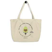 Load image into Gallery viewer, Large Organic Tote Bag - Avocado