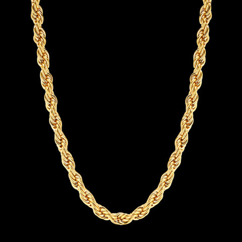 CS // 6mm Gold Rope Necklace