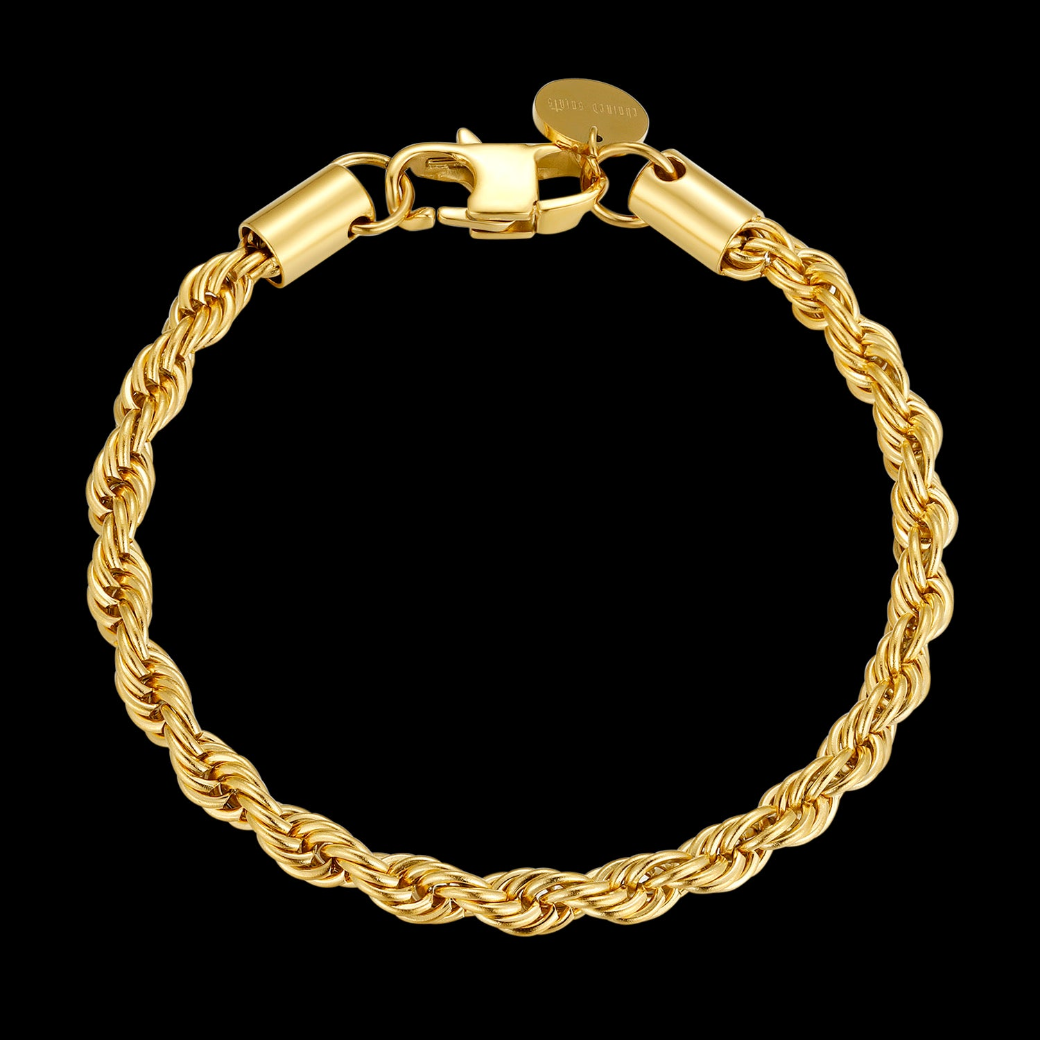 CS // 5mm Gold Rope Chain Bracelet