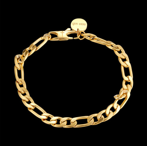 CS // 5mm Gold Figaro Bracelet