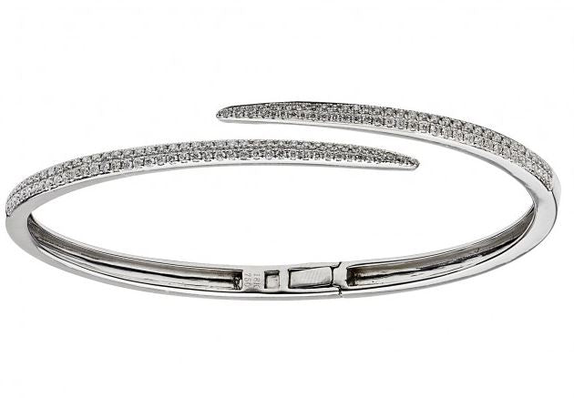 The Diamond Hinged Cuff Bracelet