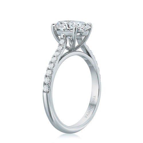 Lennon Oval Solitaire with French Set Band