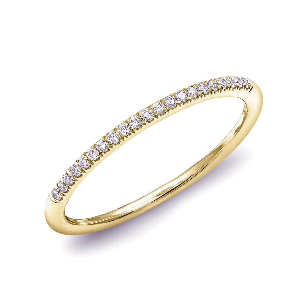 Petite Diamond French-Set Stackable Band