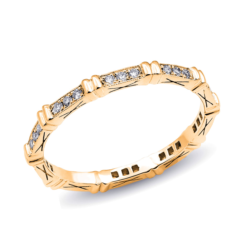 Double Bar Diamond Stackable Band