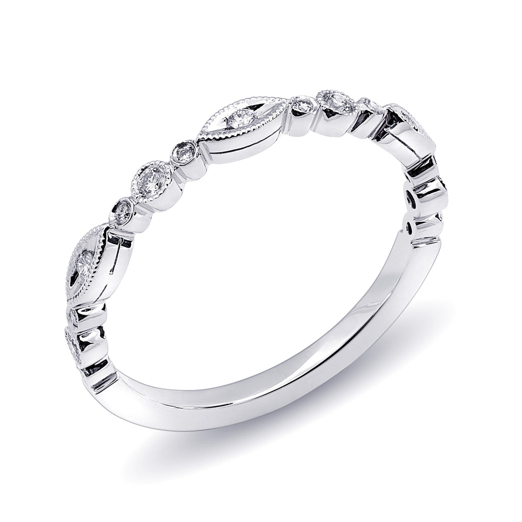 Shaped Diamond Stackable Band