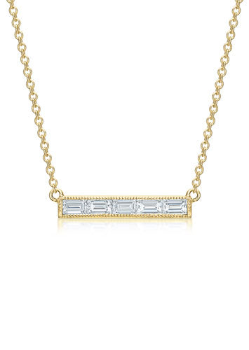 The Baguette Bar Necklace
