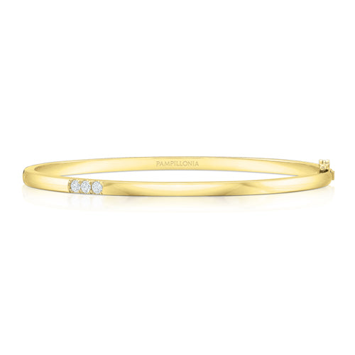 The Three Diamond Classic Bangle