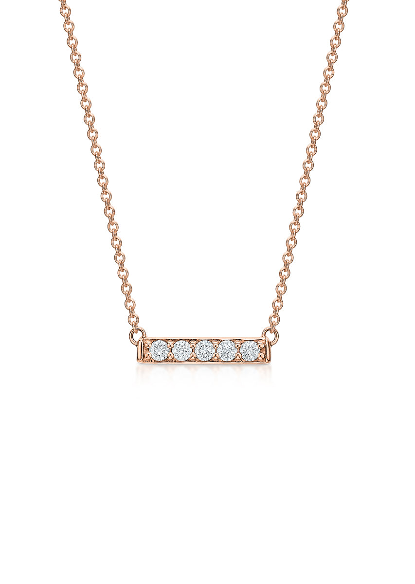 The Petite Diamond Bar Necklace
