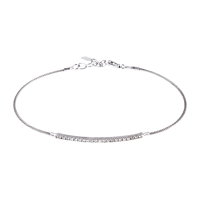 Diamond Cable Bracelet