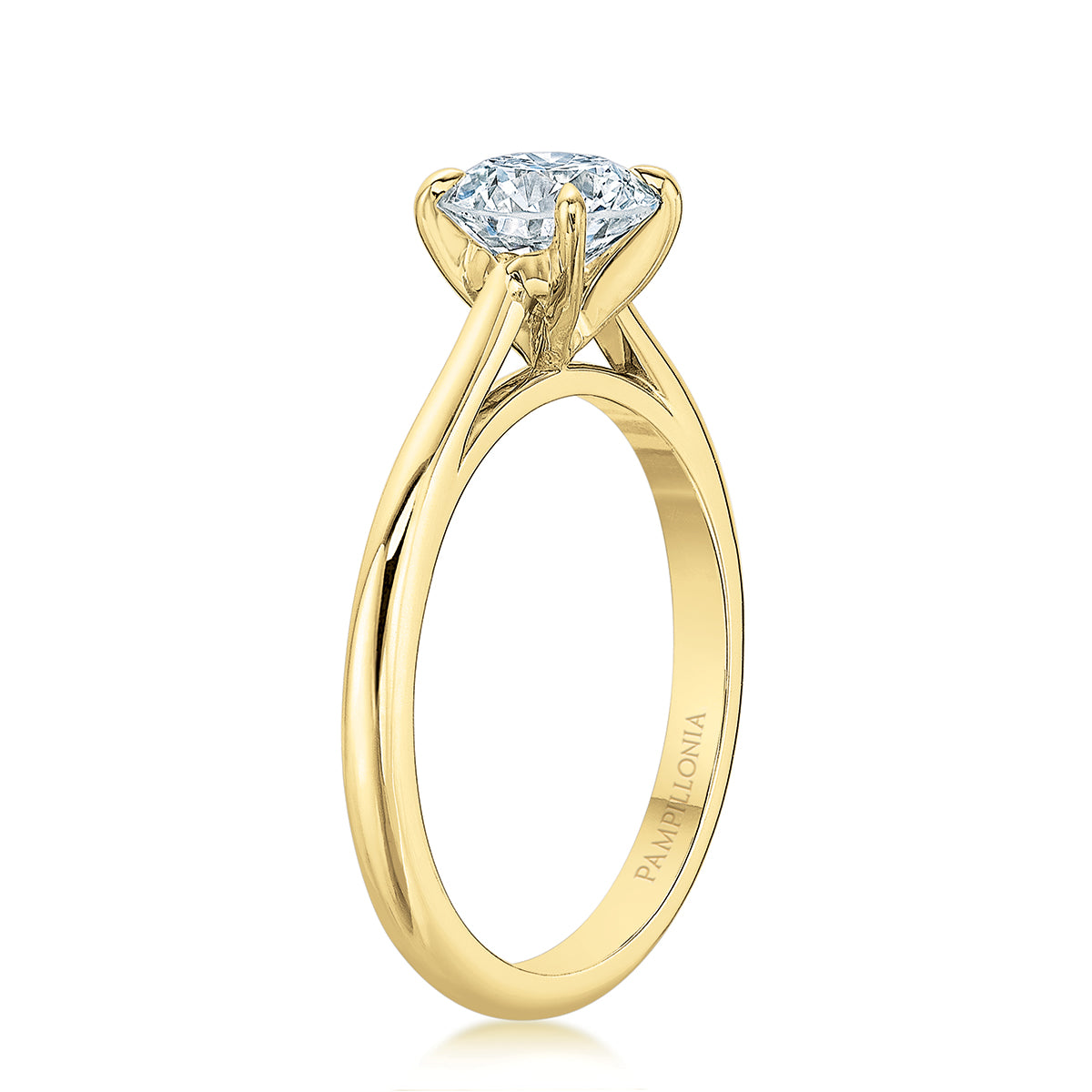 Lennon 18K Yellow Gold Solitaire