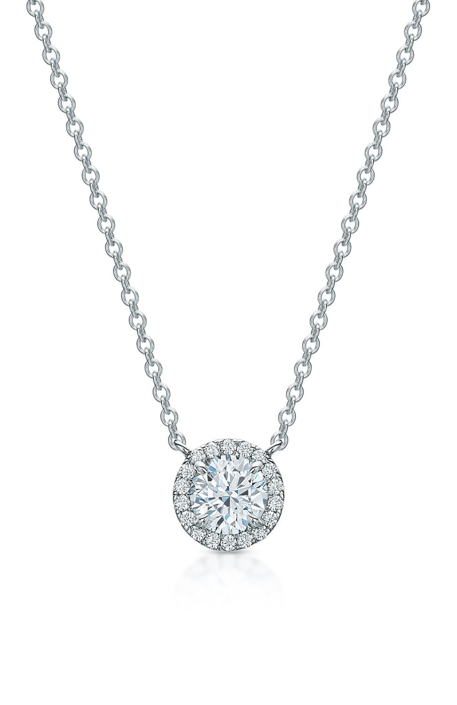 Kate Diamond Halo Necklace I
