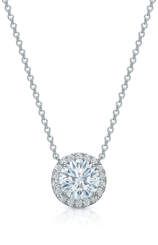 Kate Diamond Halo Necklace IV