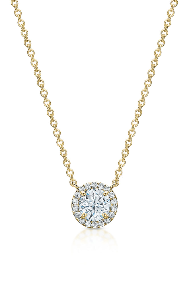 Kate Diamond Halo Necklace II