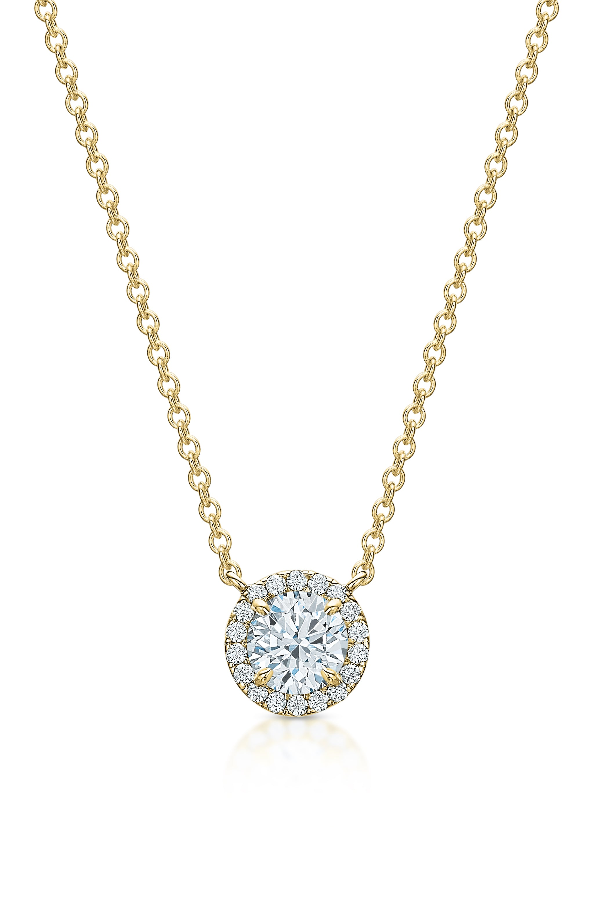 The Kate Diamond Halo Necklace II