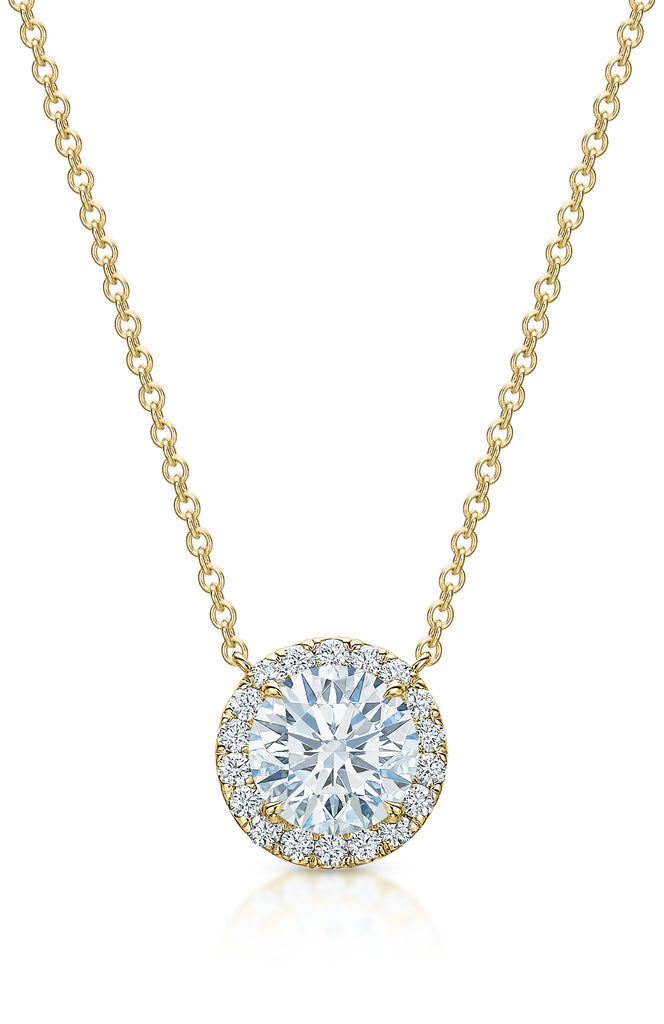 Kate Diamond Halo Necklace V