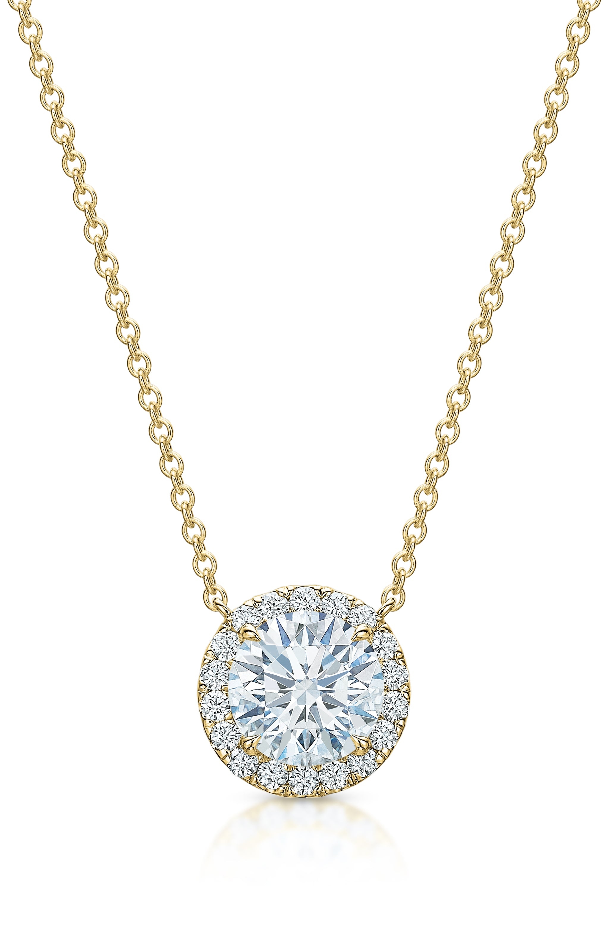 The Kate Diamond Halo Necklace V