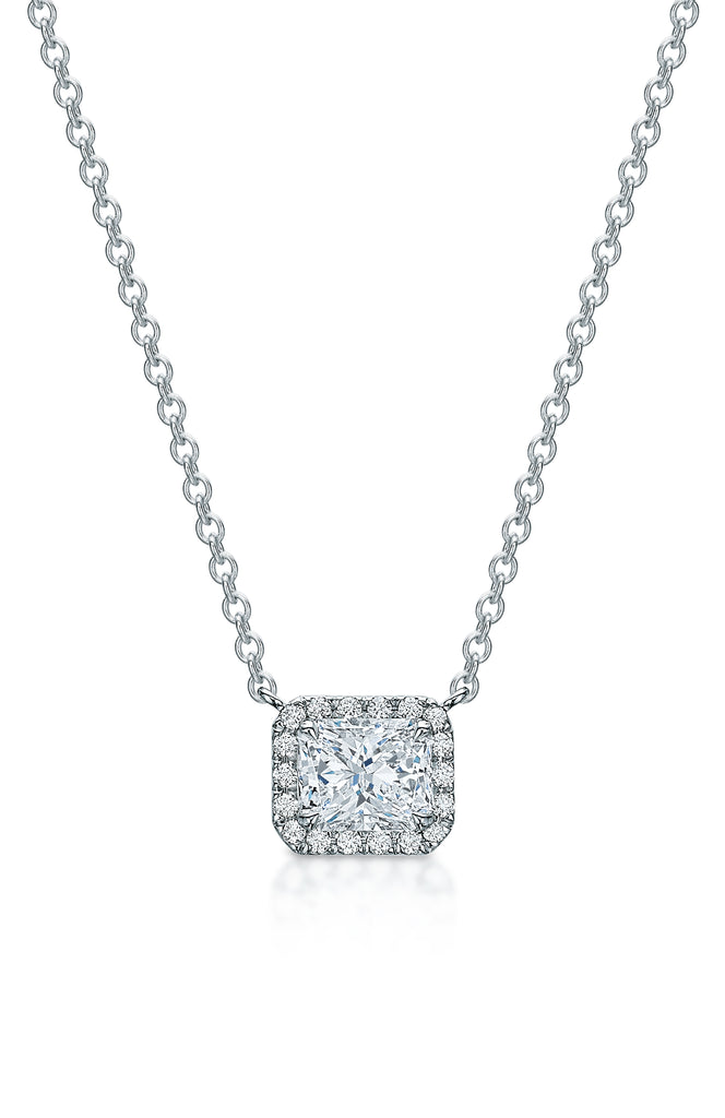 Kate Radiant Diamond Halo Necklace