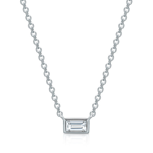 The Petite Bezel Set Baguette
