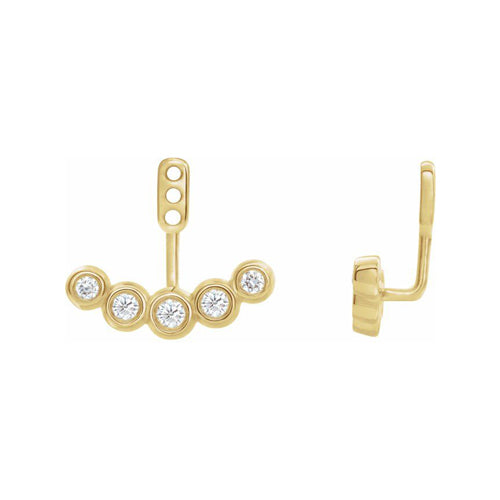 Bezel Set Diamond Earring Jackets