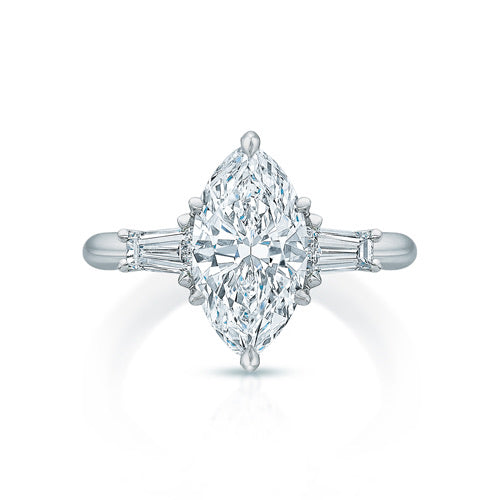 Lennon Marquise Three-Stone Ring