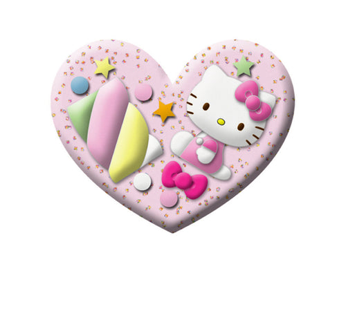 hello kitty candy heart two finger ring