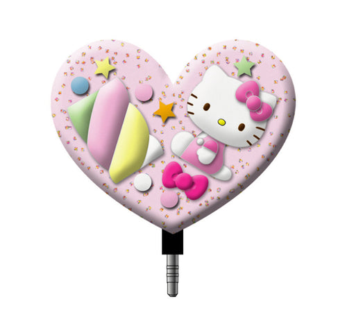 hello kitty candy heart phone jack plug