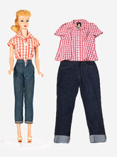 Load image into Gallery viewer, Unique Vintage Barbie Gingham Blouse Top