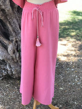 Load image into Gallery viewer, Pink Off Shoulder Top and Pants Set