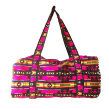 Load image into Gallery viewer, Fuchsia Woven Duffel Bag- Large