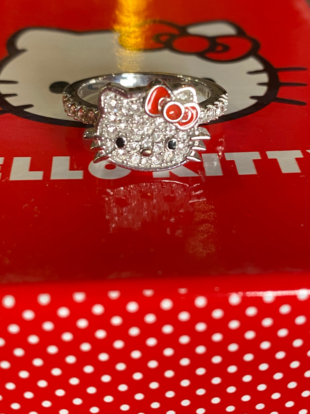 Hello Kitty Sterling Silver Outline Ring