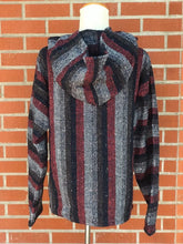 Load image into Gallery viewer, Red and Black Striped Hoodie