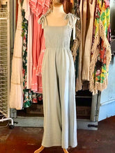 Load image into Gallery viewer, Mint Chambray Jumpsuit