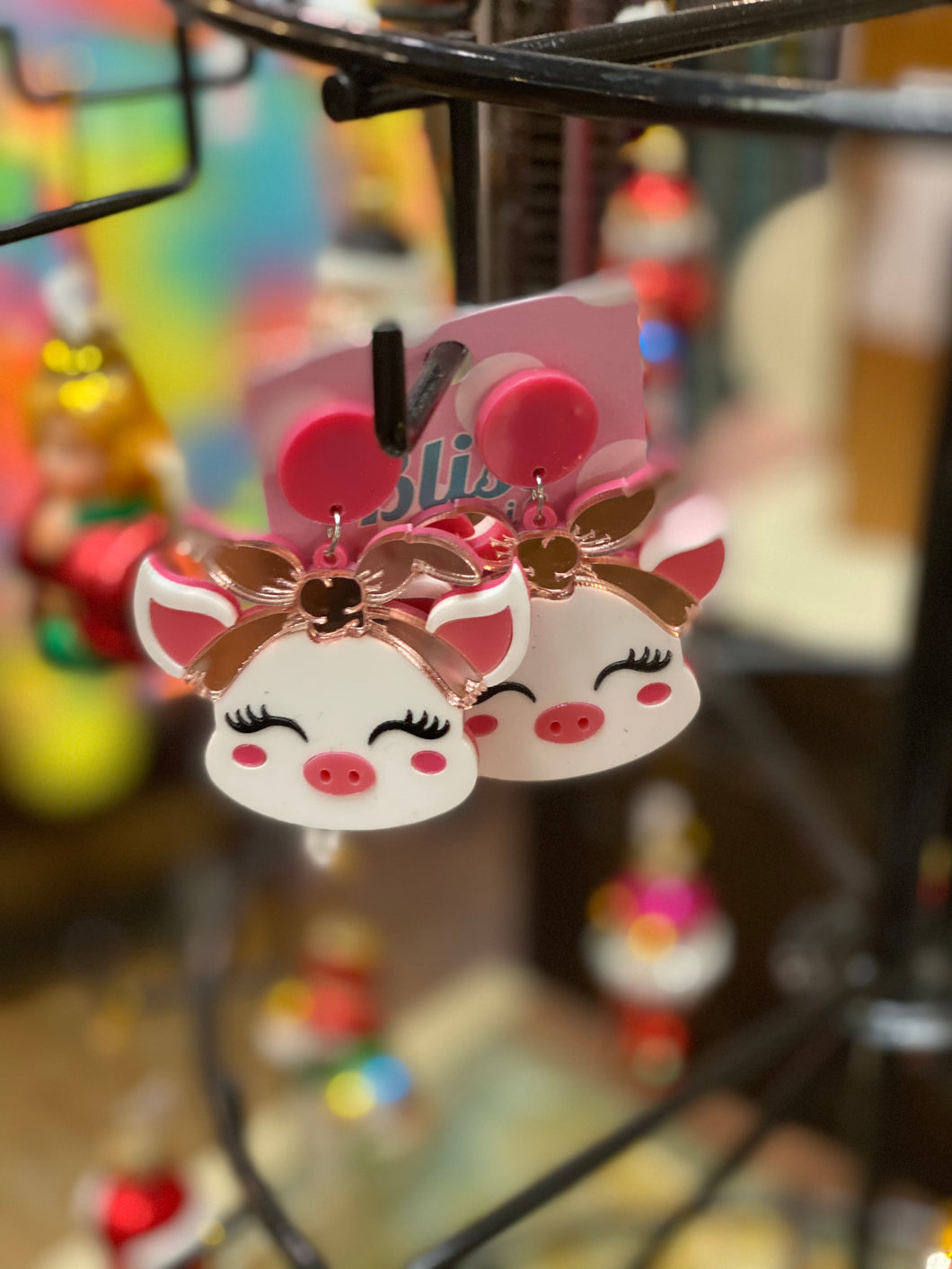 Pretty Piggy Acrylic Statement Earrings