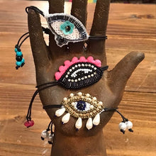 Load image into Gallery viewer, Beaded evil eye bracelets