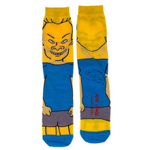 Load image into Gallery viewer, Beavis of Beavis and Butthead Character Socks