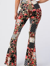 Load image into Gallery viewer, Patchwork Print Bell Bottom Leggings