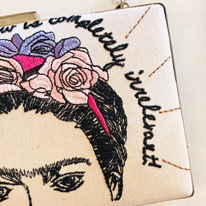 Frida Emrboidered Clutch