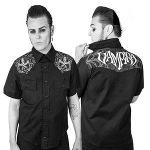 Vampira Men's Button Down Shirt