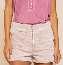 Load image into Gallery viewer, Powder Pink Colored Corduroy Mini High Waist Shorts