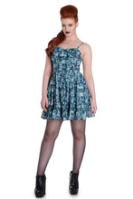 Load image into Gallery viewer, Aura Teal Skull Mini Dress