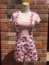 Load image into Gallery viewer, Strawberry Shorts With Removable Overall Straps