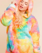 Load image into Gallery viewer, Pastel Rainbow Sherpa Hoodie