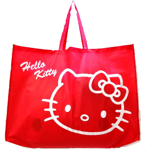 Giant red hello kitty gift tote