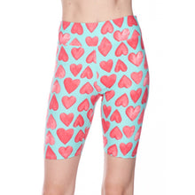 Load image into Gallery viewer, Heart biker shorts